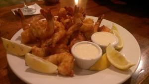 Blue and shrimp