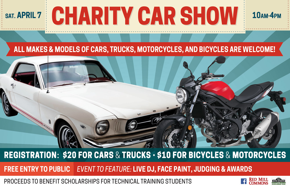 Charity Car Show Red Mill Commons - Virginia beach car show 2018